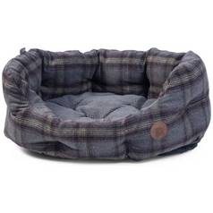 Petface Grey Tweed Oval Pet Bed - Large