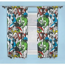Disney Marvel Comics Unlined Pencil Pleat Curtains