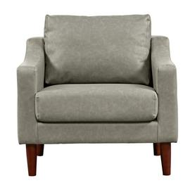 Argos Home Brixton Faux Leather Armchair - Grey
