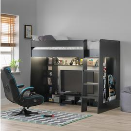 Argos Home Black Gaming High Sleeper Bed
