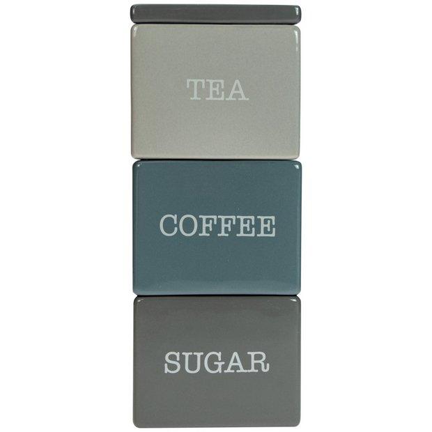 Buy Argos Home Tea Coffee And Sugar Stacker Storage Jars And Sets Argos