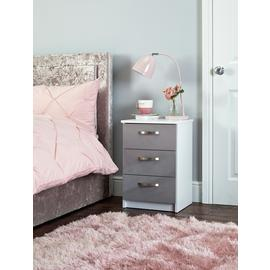 Argos Home Cheval 3 Drawer Bedside Table