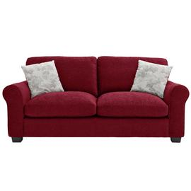 Argos Home Tammy 3 Seater Fabric Sofa - Wine