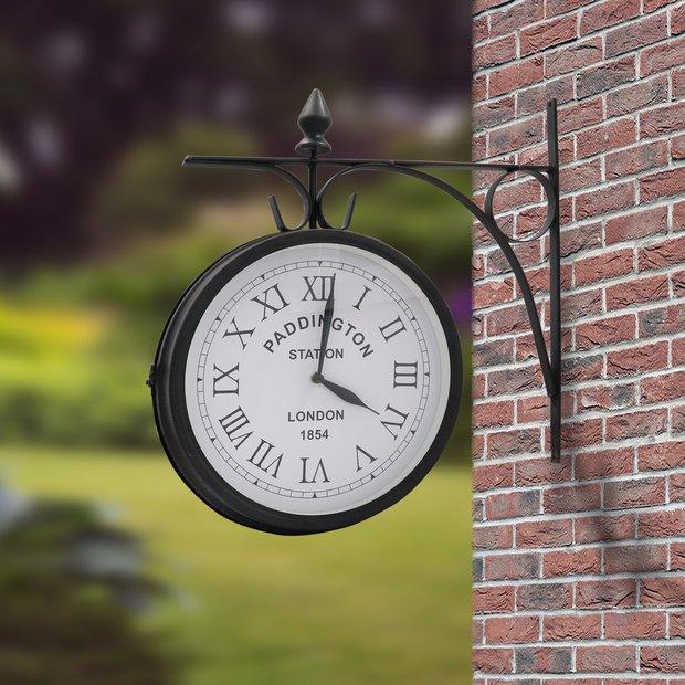 Buy Gardenwize Paddington Outdoor Garden Clock Garden Clocks Argos