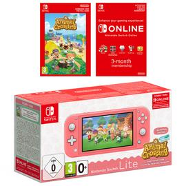 Nintendo Switch Lite Animal Crossing Console - Coral