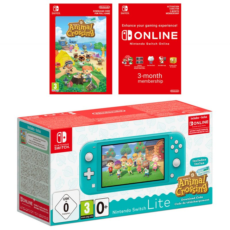 Nintendo Switch Lite Animal Crossing Console - Turquoise from Argos