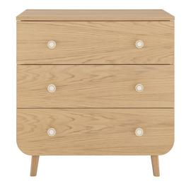 Habitat Etta 3 Drawer Oak Chest of Drawers