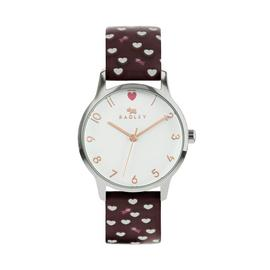 Radley Ladies Plum Leather Strap Watch