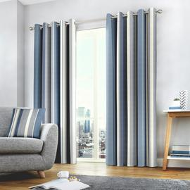 Fusion Whitworth Fully Lined Eyelet Curtains