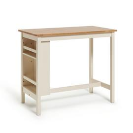 Habitat Chicago Storage Bar Table - Oak Cream