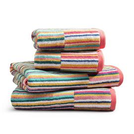 Habitat Bright Stripe 4 Piece Towel Bale - Multicoloured