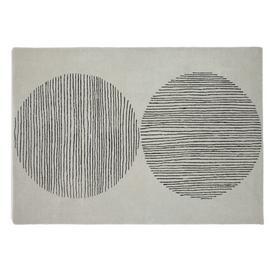 Habitat Hand Woven Circles Wool Rug - 160x230cm - Grey