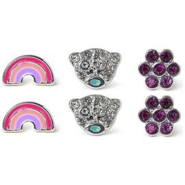 Me to You Silver Plated Set of 3 Pairs Stud Earrings