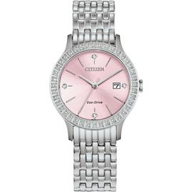 Citizen Ladies Austrian Crystal Silver Bracelet Watch