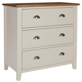 Argos Home Highbury 3 Drawer Chest of Drawers - Oak & Cream