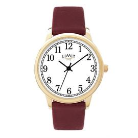 Limit Ladies Red Faux Leather Strap Watch