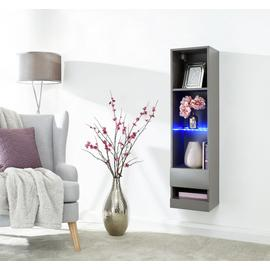 Galicia 4 Shelf Wall Mounted LED Bookcase