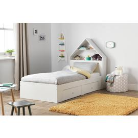 Argos Home House Cabin Bed Frame - White