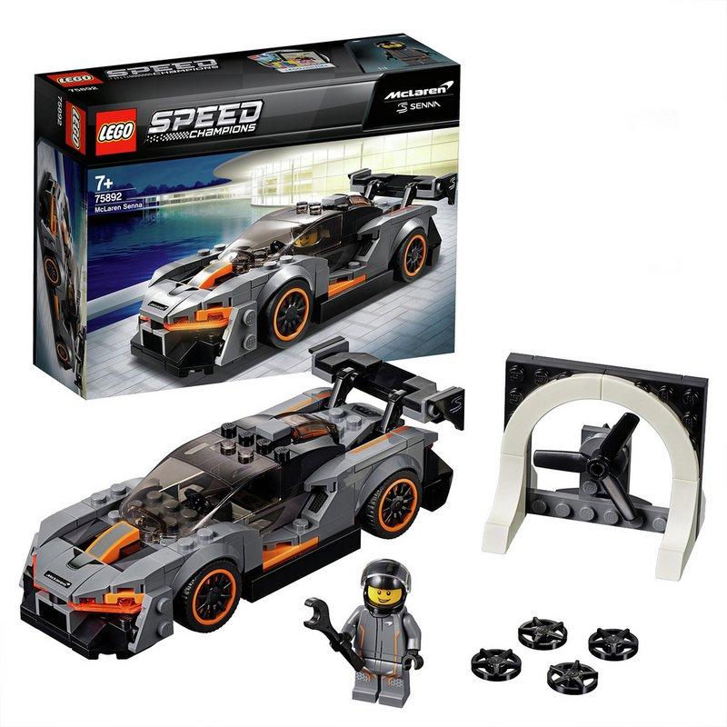 LEGO Speed Champions McLaren Senna Model Toy Car - 75892 from Argos