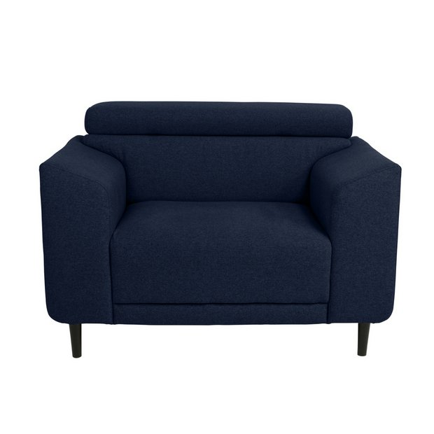 Buy Argos Home Jonas Fabric Cuddle Chair Navy Armchairs And Chairs Argos