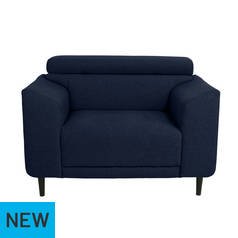 Argos Home Jonas Fabric Cuddle Chair - Navy