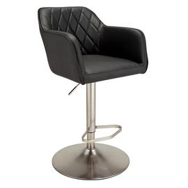 Argos Home Ellington Quilted Faux Leather Bar Stool - Black