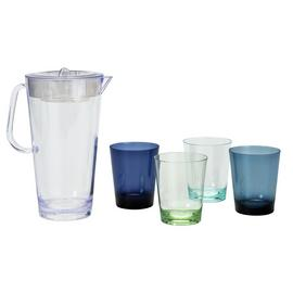 Argos Home Set of 4 Stacking Tumblers & Pitcher