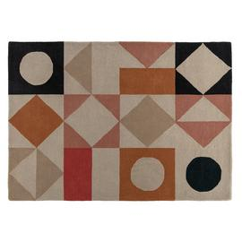 Habitat Quinn Patterned Wool Rug - 140x200cm - Multicoloured