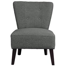 Argos Home Delilah Fabric Cocktail Chair - Charcoal