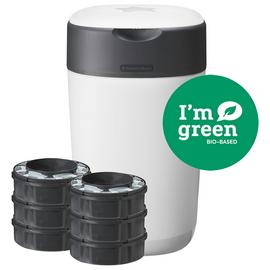 Tommee Tippee Twist & Click Nappy Bin and 6 Cassettes