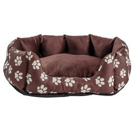 Paw Print Oval Pet Bed - Medium