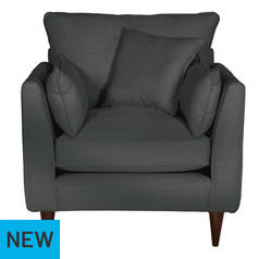 Argos Home Hector Fabric Armchair - Charcoal Linen