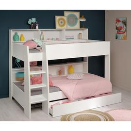 Parisot Leo Bunk Bed with Drawer - White