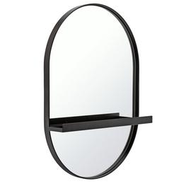 Argos Home Wall Mirror with Shelf - Black