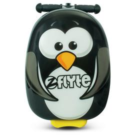 Flyte Percy the Penguin 3 Wheel Hard Scooter Suitcase