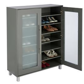 Argos Home Lydiard Gloss Shoe Cabinet - Grey