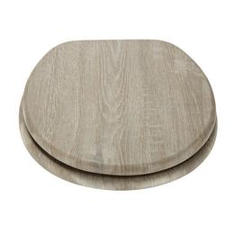 Argos Home Wood Effect Toilet Seat - Grey