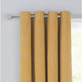 Argos Home Textured Weave Blackout Lined Eyelet Curtains