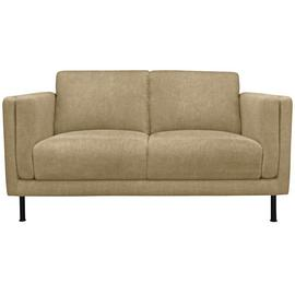 Argos Home Hugo 2 Seater Faux Leather Sofa - Tan