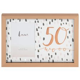 Hotchpotch Luxe 50th Birthday Photo Frame - Rose Gold
