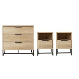 Argos Home Nomad 2 Bedside Tables & 3 Drawer Chest Set