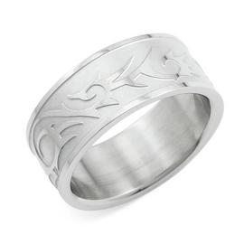 Revere Men's Stainless Steel Matt & Polished Ring