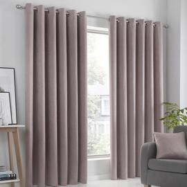 Fusion Strata Dim Out Woven Eyelet Curtains