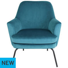 Habitat Celine Velvet Accent Chair - Green