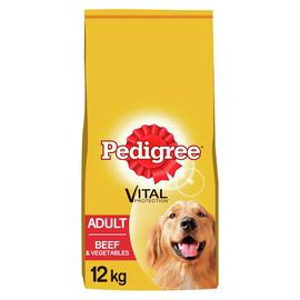 Pedigree Complete Adult Dry Dog Food Beef and Veg 12kg