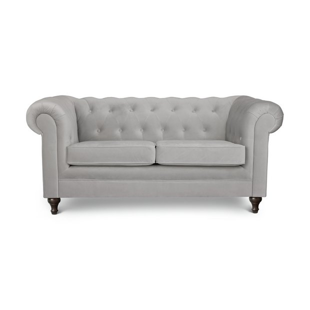 Buy Argos Home Chesterfield 2 Seater Velvet Sofa Light Grey Sofas