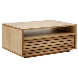 Habitat Max Oiled Oak Coffee Table With Shelf