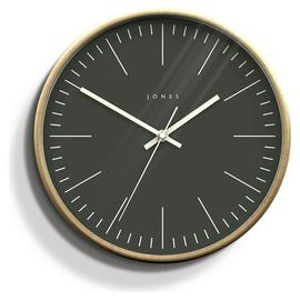 Jones Penny Wall Clock - Dark Grey