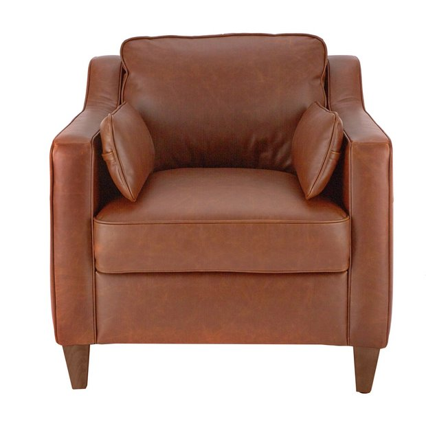 Buy Argos Home Drury Lane Leather Armchair Tan Armchairs And