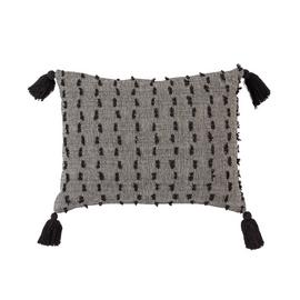 Argos Home Kanso Textured Cushion - Black & White